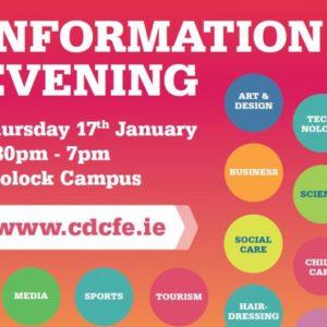 CDCFE Information Evening January 17th